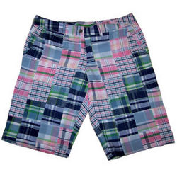 Ladies Nantucket Summer Madras Patchwork Bermuda Shorts