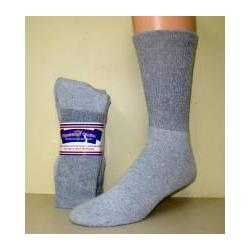 Gray Diabetic Crew Socks