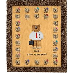 Personalized Retirement Bears on Plaque for Teacher