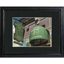 Personalized Lucky Clover Pub Print