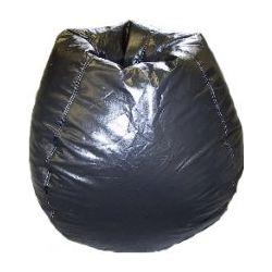 Black Vinyl Bean Bag Chair