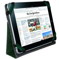 Crocodile Embossed Leather iPad Case