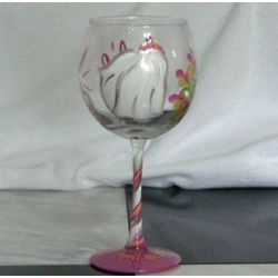 For the Bride Personalized Handpainted Glass