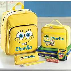 Personalized SpongeBob 3 Piece School Set