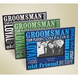 Best Bud Personalized Groomsman Picture Frame
