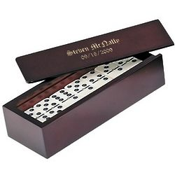 Personalized Wooden Domino Set