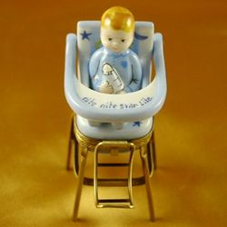 Baby High Chair Blue Limoges Box