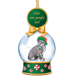 Cat Snow Globe Ornament Collection 2 Monthly Issue