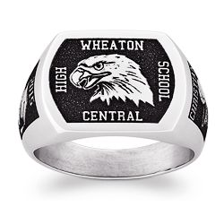 Personalized Sports and Mascots Stainless Steel Signet Ring