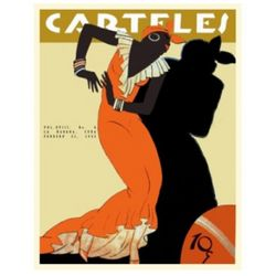 Vintage Cuban Art Deco Dancing Lady Poster