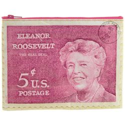 Eleanor Roosevelt 5 Cent Stamp Zipper Pouch