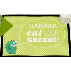 Personalized Eat Your Greens Kids Placemat