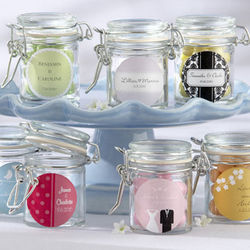 Personalized Wedding Glass Favor Jars