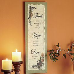 Faith, Hope, Love Wall Art