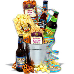 Father's Day Beer and Snacks Gift Basket