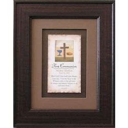 Personalized 1st Communion Framed Verse