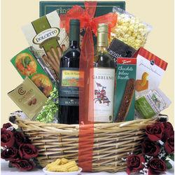 Italian Romance Gourmet Valentine's Day Wine Gift Basket