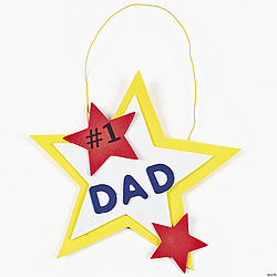 #1 Dad Hanging Decoration Craft Kit