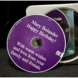 Keepsake CD of Phoned-In Well-Wishes & Memories