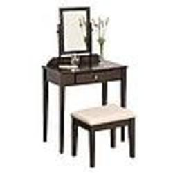 Cappuccino / Espresso Finish Contemporary Vanity with Bench