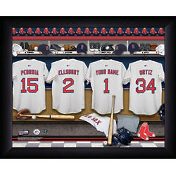 Personalized Boston Red Sox MLB Locker Room Print