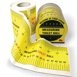 Measuring Tape Toilet Paper