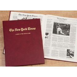 New York Times Cincinnati Reds Personalized Team History Book