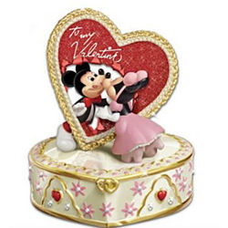 Mickey and Minnie To My Valentine Music Box