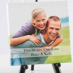 Personalized Two Hearts One Love Canvas Photo