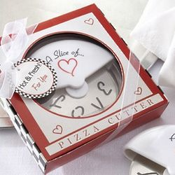 A Slice of Love Stainless Pizza Cutter Favor