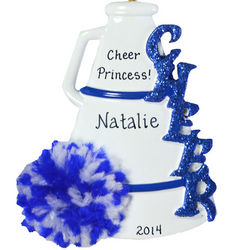 Personalized Cheerleader Princess Ornament