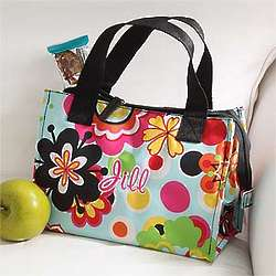 Personalized Insulated Floral Blossoms Lunch Tote