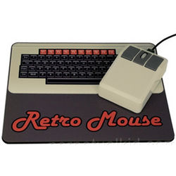 Retro Computer Mouse and Mousepad Set
