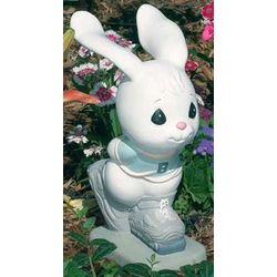 Precious Moments Skating Bunny Garden Statue