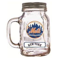 New York Mets 20-Ounce Mason Jar