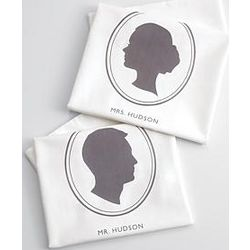 Personalized Cameo Silhouette Pillowcases