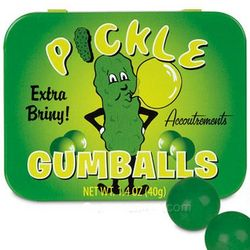 Pickle Flavored Gumballs