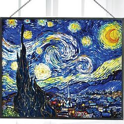 Van Gogh Starry Night Art Glass