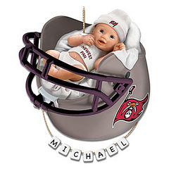 Personalized Buccaneers Fan Baby's 1st Christmas Ornament