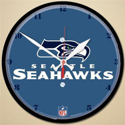 "Seattle Seahawks 12"" Round Wall Clock"