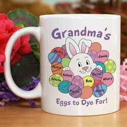 Personalized Eggs to Dye For Easter Mug