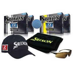 Q-Star Personalized Golf Fan Pack Gift Set with White Golf Balls
