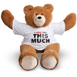 I Love You This Much T-Shirt Big Hunka Teddy Bear