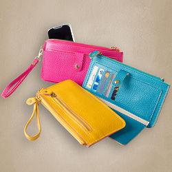 Women's 2 Chic Faux Leather Zipper Wallet