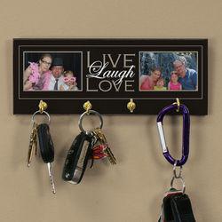 Live Laugh Love Custom Photo Key Rack