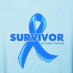 Personalized Colon Cancer Survivor Ribbon T-Shirt