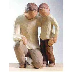 Father and Son Sculpture