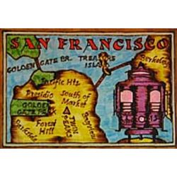 San Francisco Map Leather Photo Album in Color