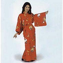 Red Yukata Japanese Robe