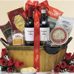 Red Lover Chilean Red Duet Valentine's Day Wine Gift Basket